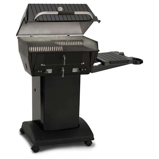 C3PK1 Broilmaster C3PK1 Independence Charcoal Grill Package with Base and Shelf, Black 1