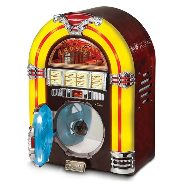 CR1101A-CH Crosley LED Tabletop Jukebox CD Player 1