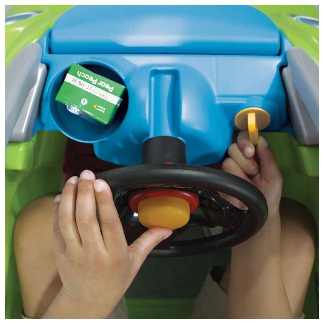 845100-U-A Step2 Toddler Push Ride On Toy Car for Kids Easy Turn Coupe in Green (Open Box) 6