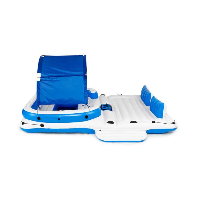 43105E-BW + 43115E-BW Bestway CoolerZ Tropical Breeze 6 Person Floating Island with 4 Person Island 2