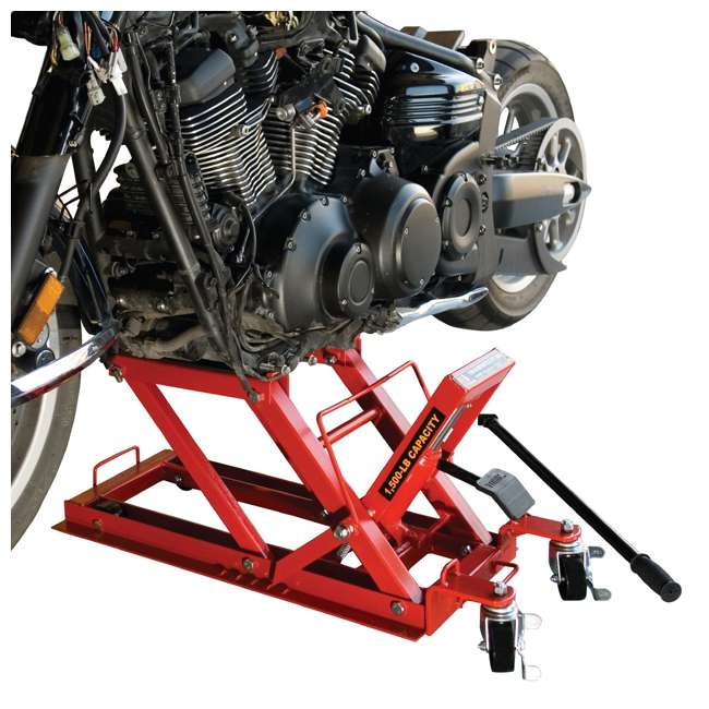 TOR-T64017-U-C Torin Big Red .75 Ton 1500lb Capacity Motorcycle ATV UTV Jack Lift (For Parts) 4