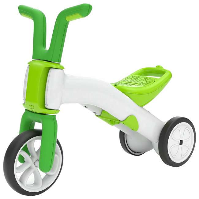 CPBN02LIM Chillafish CPBN02LIM Bunzi Childrens Gradual Balance 2 in 1 Tricycle Bike, Lime