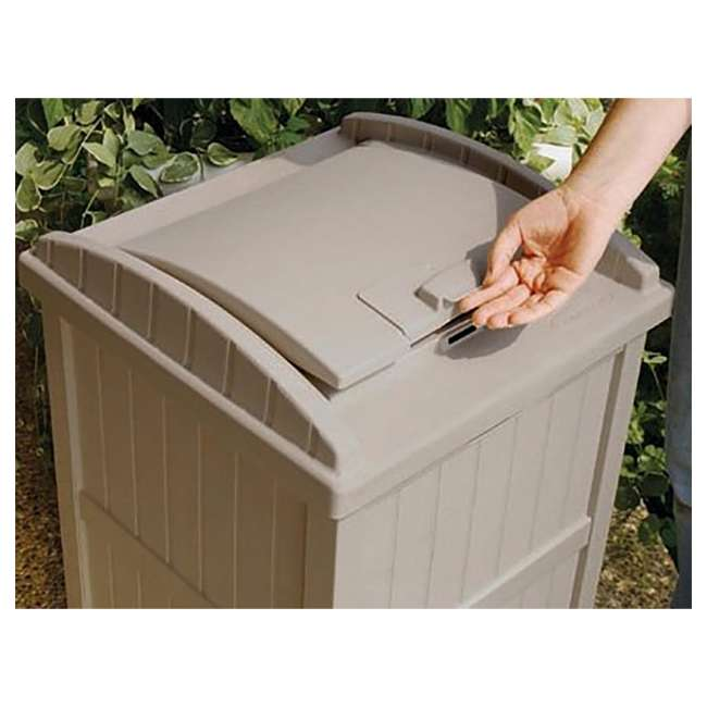 4 x GH1732-U-A Suncast  30-33 Gallon Patio Resin Garbage Trash Can Hideaway (Open Box) (4 Pack) 3