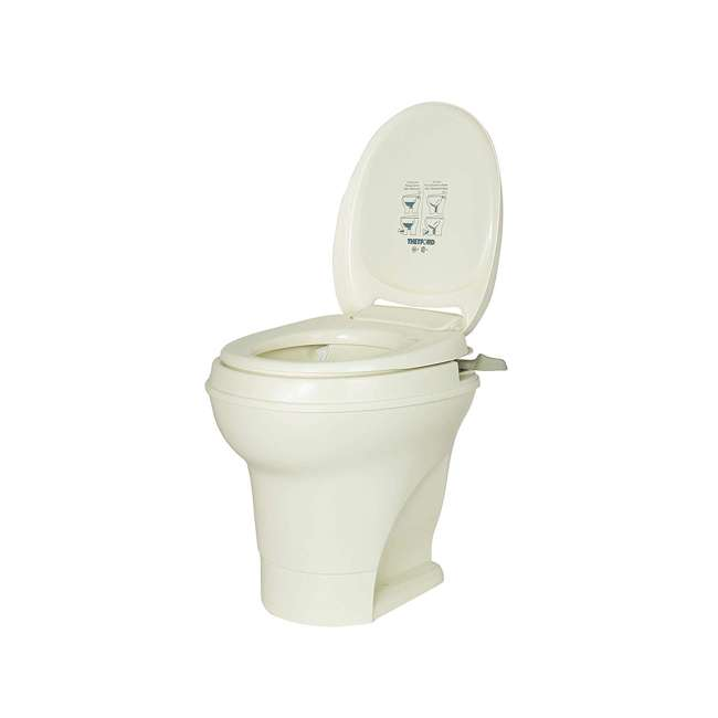 31668 Thetford 31668 Aqua Magic V Hand Flush RV Travel High Profile Toilet, Parchment 1