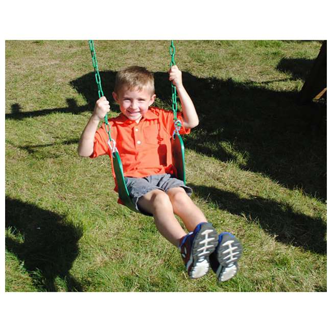 AA925-242 Creative Playthings AA925-242 Kids Flexible Sling Seat Chain Play Swing, Green 1