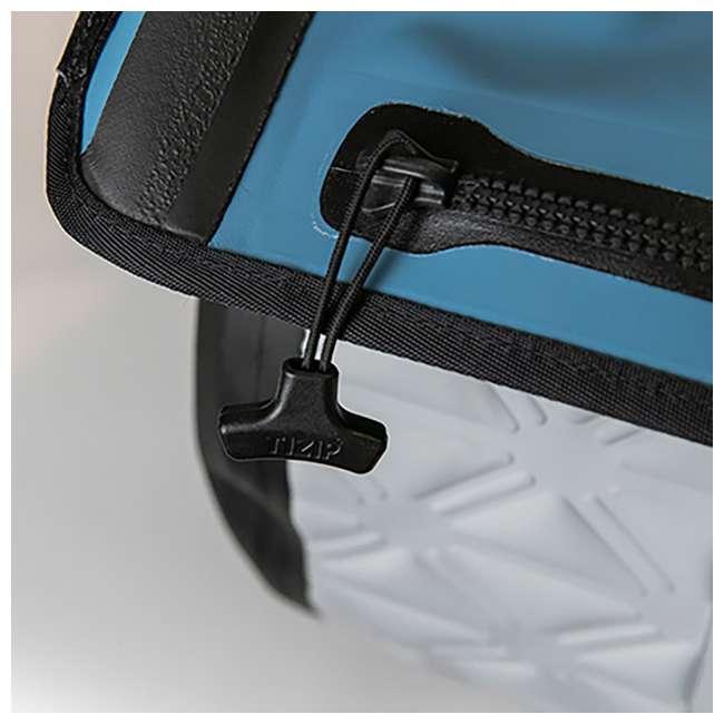 77-57798 Yampa 105 Liter Dry Duffle Waterproof Backpack Bag, Hazy Harbor Gray and Blue 3