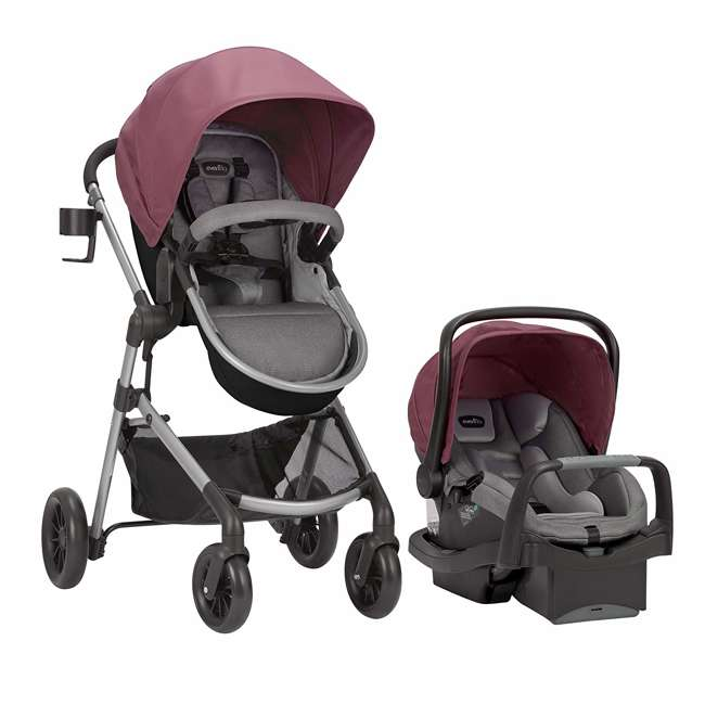 56012217 Pivot Stroller & Car Seat Travel System, Dusty Rose