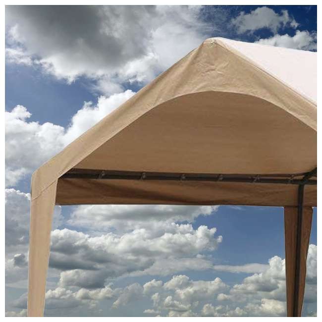APGP10206B-U-A Abba Patio 10 x 20 Foot Portable Outdoor Carport Canopy -6 Steel Legs (Open Box) 4
