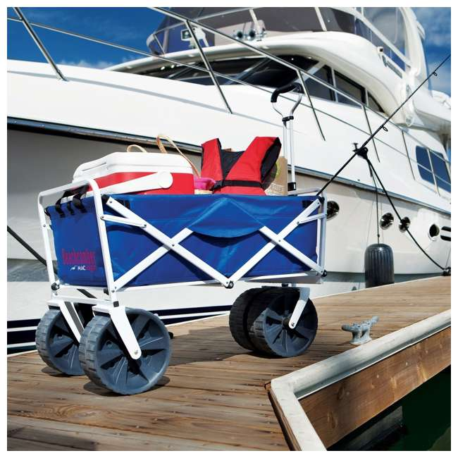 MAC-WTCB-100-BLUE-U-A Mac Sports Folding All Terrain Beach Utility Wagon (Open Box) (2 Pack) 4
