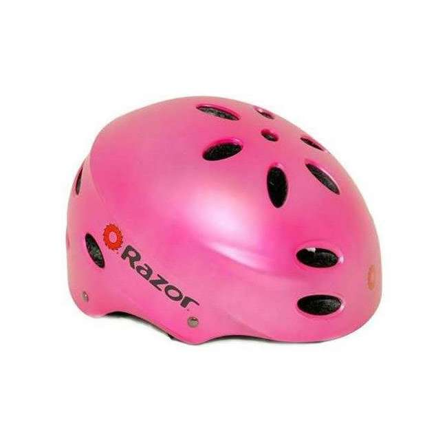 15130610 + 97783 Razor Pocket Mod Bella Electric Scooter & Youth Helmet (Pink) 5