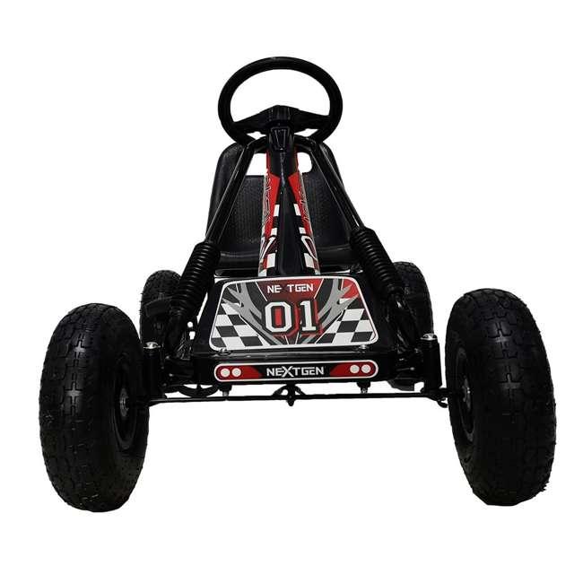 1 PGCBLK NextGen Childrens Kids 4 Wheel Ride On Car Pedal Go Cart & Safety Helmet, Black 1