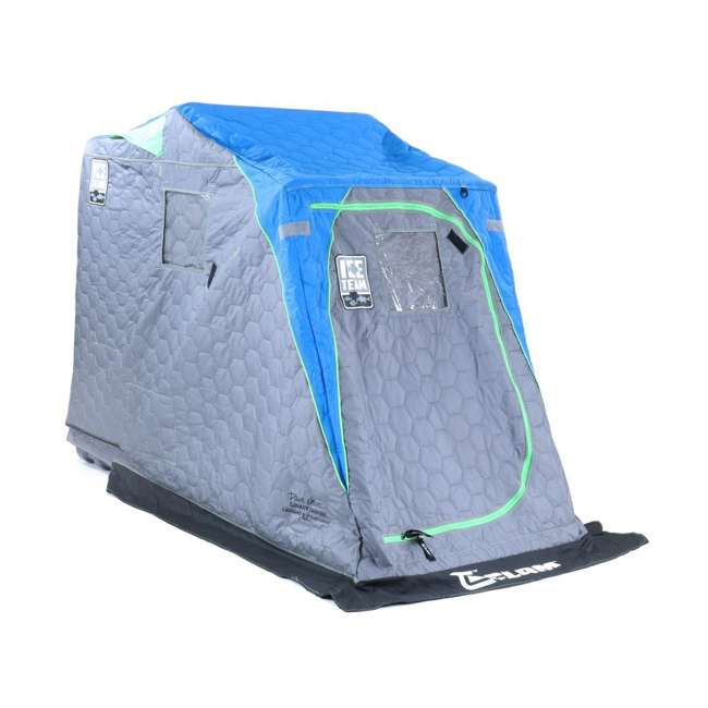 CLAM-10941 Clam 10941 Legend XL Thermal Ice Fishing Shelter with Deluxe Swivel Seat, Blue 2