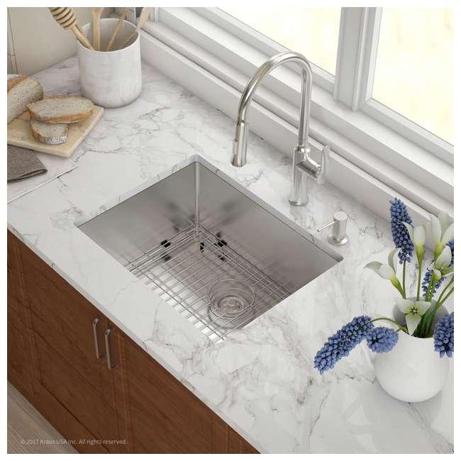 KHU101-23 Kraus 23-Inch Rectangular Undermount Stainless Steel Kitchen Sink (2 Pack) 3