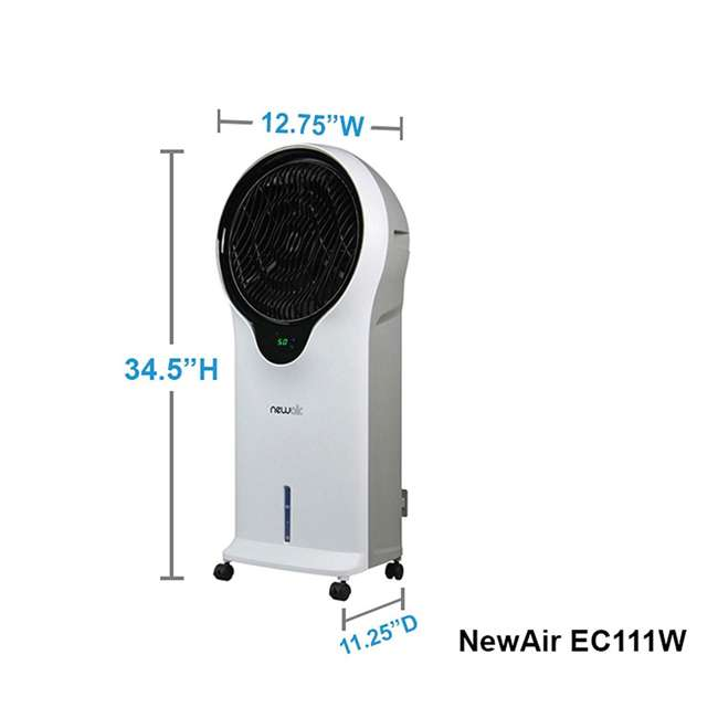 EC111W NewAir Portable Air Conditioner Evaporative Cooler Tower Fan with Remote, White 4