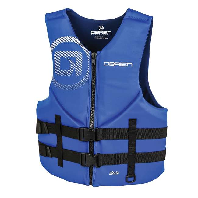 6 x 2181847-MW O'Brien Blue Men's BioLite Life Jacket Vest, Adult XL (6 Pack) 1