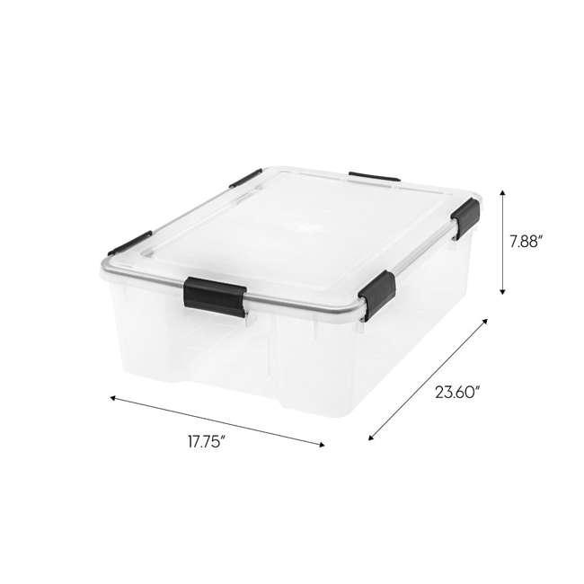 110400 IRIS USA 110400 30.6 Quart Weathertight Plastic Storage Container Box, Clear 1