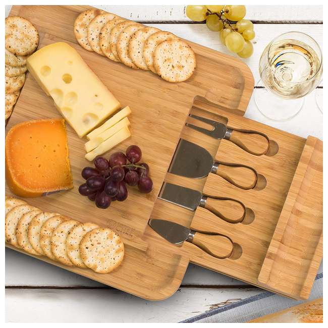 CHB401 Commercial Chef Charcuterie Platter & Knife Set 4