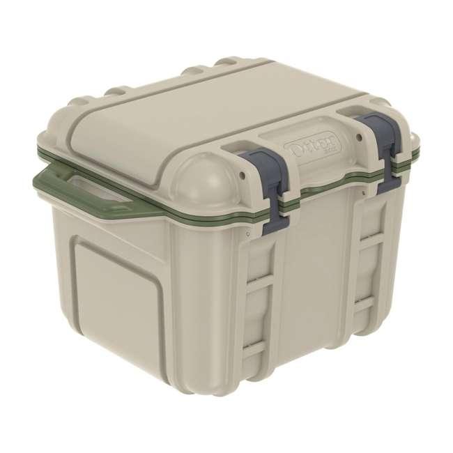 77-54865 OtterBox Venture Heavy Duty Outdoor Camping Fishing Cooler 25-Quarts, Tan/Green 1