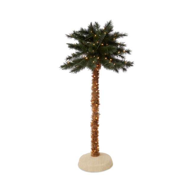TV50GN519C00 Home Heritage 5-Foot Pre-Lit Palm Tree