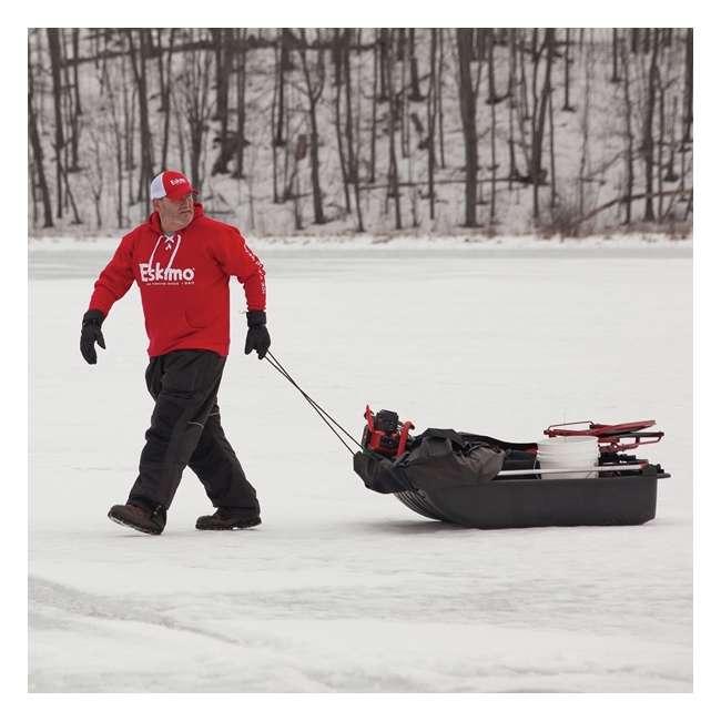 ESK-22100 Eskimo ESK-22100 Evo Crossover 1-Person Flip-Style Ice Fishing Tent Shelter, Red 2