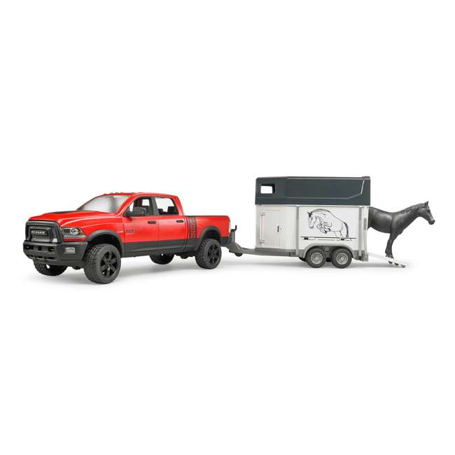 02501-BR Bruder Toys RAM 2500 Power Wagon Truck Toy with Horse & Trailer 4