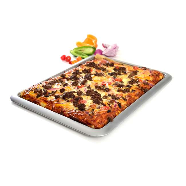 3877 Norpro Non Stick 16.5 Inch Carbon Steel Rimmed Full Baking Cookie Sheet, Silver 2
