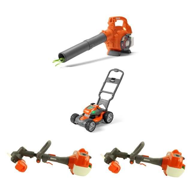 HV-TOY-589746401 + HV-TOY-589289601 + 2 x HV-TOY-5 Husqvarna Kids Toddler Toy Battery Lawn Leaf Blower, Lawn Mower & Trimmer (2)
