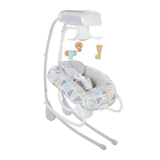 FHW45 Fisher Price 2 In 1 Deluxe Baby Cradle N Swing Rocking Seat Rocker Chair Bouncer 1