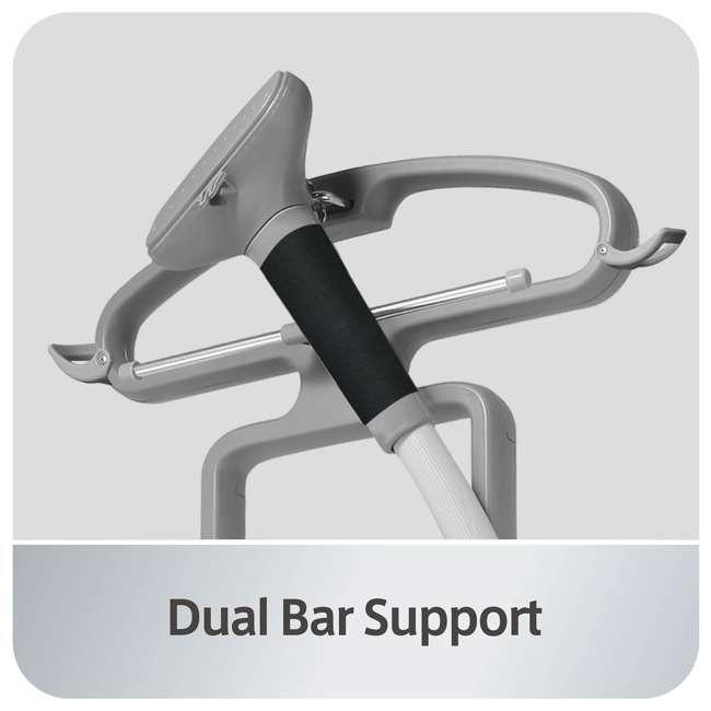 GS45-DJ-ORANGE-U-A Salav Professional Series 1500 Watt Rolling Dual Bar Garment Steamer (Open Box) 4