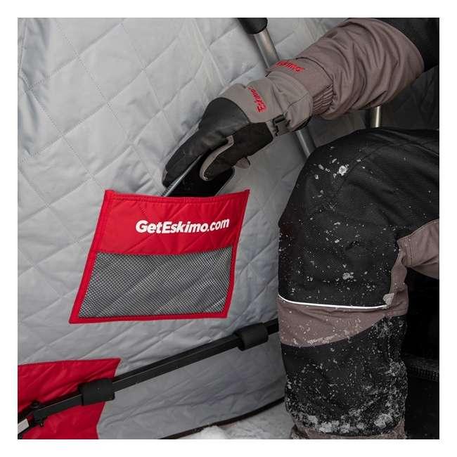 ESK-15350  Eskimo ESK-15350 Wide 1 Inferno Expandable Flip Style Ice Fishing Shelter, Red 3