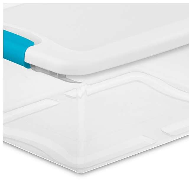 96 x 14948012 Sterilite 1494 15-Quart Clear Latching Stacking Storage Box (96 Pack) 4
