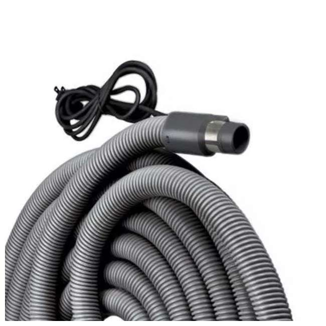 BR-CH515-U-B NuTone Current Carrying Crush Proof Universal Central Vacuum Hose, 30 ft (Used) 3