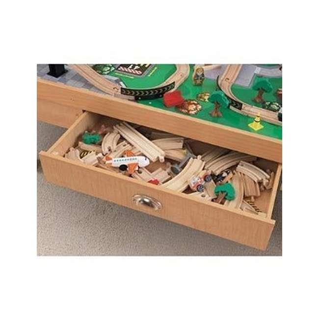 KidKraft Airport Express Wood Train Table U0026 Toy Set