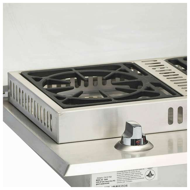BOP-60099 Bull Outdoor Products Stainless Steel Natural Gas Double Side Burner 2