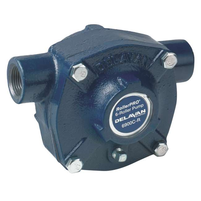 6900C-R Delavan 6900C-R 19.6 GPM 300 PSI Cast Iron Reverse Rotation 6 Roller Water Pump
