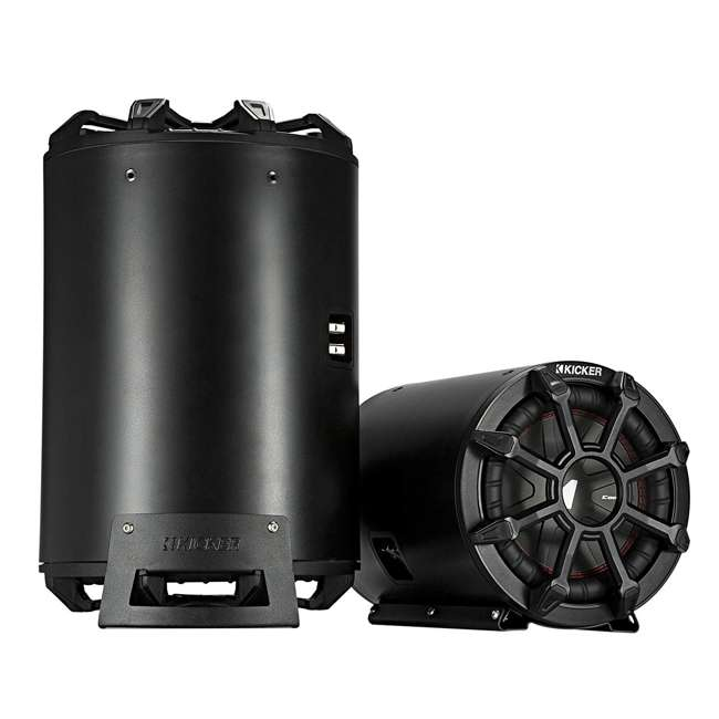 46CWTB102 KICKER CWTB 10-inch Ultra Deep Mounted Tube Speakers, Black