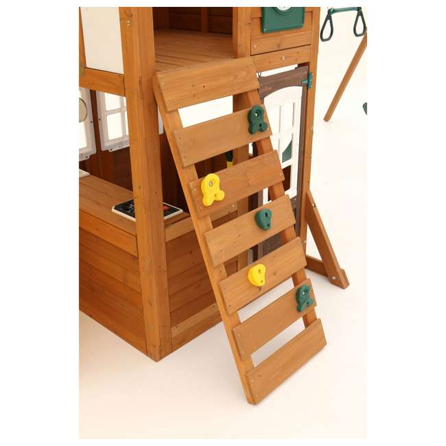F24953 KidKraft F24953 Creston Lodge Kids Wooden Outdoor Playset 6