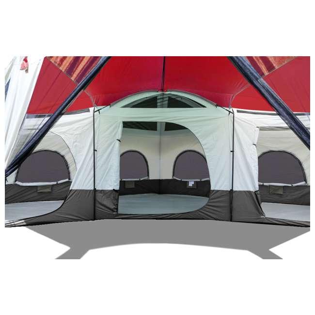 TGT-CARSON-18-B-U-A Tahoe Gear Carson 3 Season 14 Person 25x17.5' Family Cabin Tent, Red (Open Box) 2
