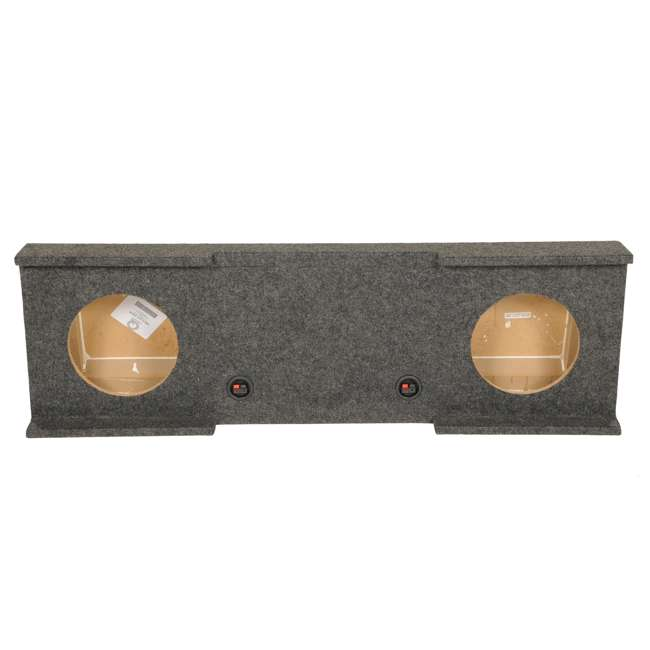 """GMC10-2007-4DR GMC Chevy Crew Cab 2007-13 Dual 10"""" Subwoofer Box  (2 Pack) 3"""