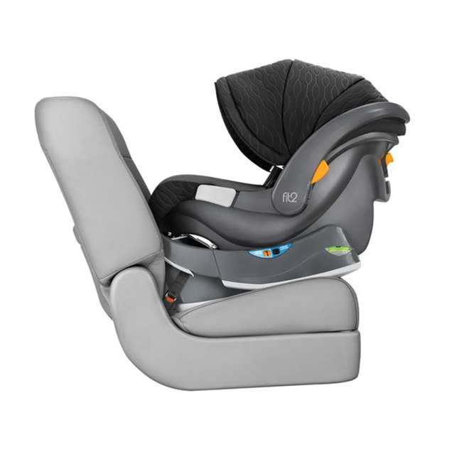 CHI-0507977155 Chicco Fit2 Infant/Toddler Rear Facing Car Seat w/ 2 Stage Base, Black Legato 3