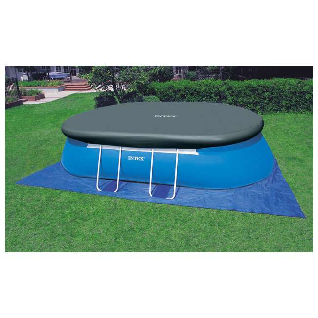 Intex 18 39 x 10 39 x 42 oval frame swimming set 28191eh for Intex ovale