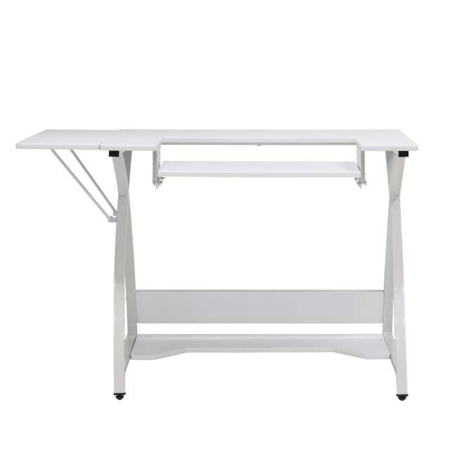 STDN-38017 Sew Ready STDN-38017 Venus Sewing Machine Craft Hobby Table Computer Desk, White 1