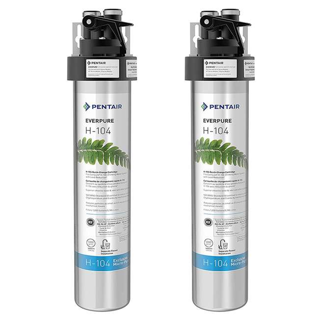 EV926271 Pentair Everpure H-104 125 PSI Compact Drinking Water Filtration System (2 Pack)