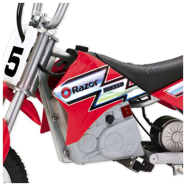 15128095-U-A Razor MX350 Dirt Rocket 24V Electric Motorcycle Bike - Red (Open Box) (2 Pack) 5