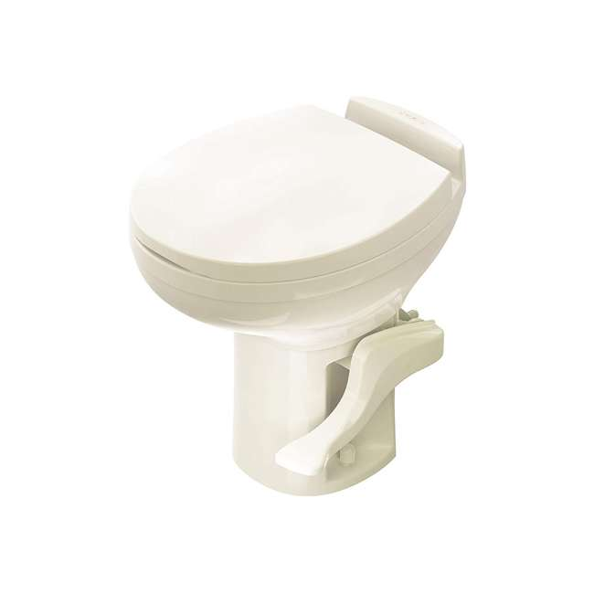 42171 Thetford 42171 Aqua Magic Residence Modern Style RV Portable Travel Toilet, Bone