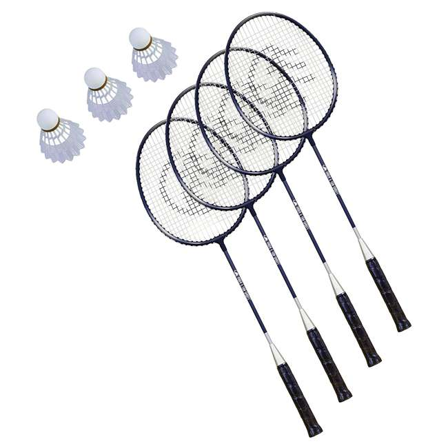 BM-PS/ALUM-OB Park & Sun Sports Portable Outdoor Complete Badminton Set w/ Carry Case, Yellow (Open Box) 3