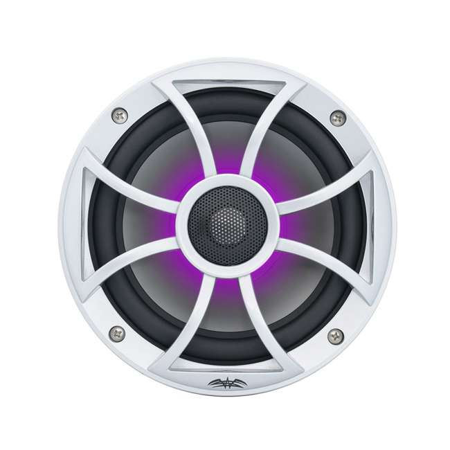 "RECON6SRGB Wet Sounds Recon 6.5"" 2-Way Marine Speakers w/ LED lights 9"