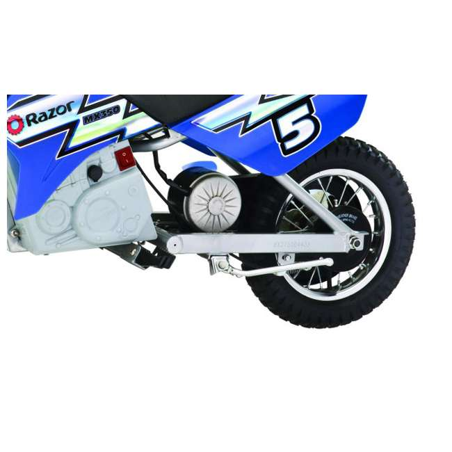 15128040 + 97775 Razor Dirt Rocket MX350 Electric Moto Bike & Full Face Youth Helmet 5