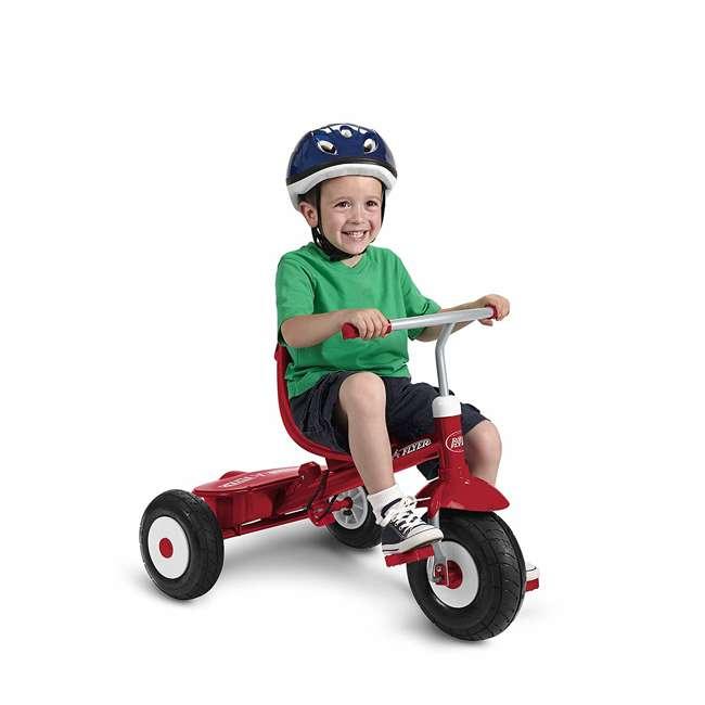 816Z Radio Flyer Sport 4 in 1 All Terrain Kids Stroll 'N Trike Ride On Tricycle, Red 5