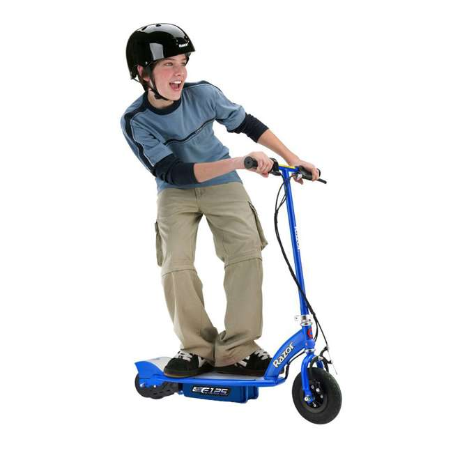 13111141 Razor E125 Motorized Rechargeable Kids Electric Scooter and V17 Youth Sport Helmet 2
